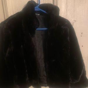 Gap kids faux fur dressy winter jacket.
